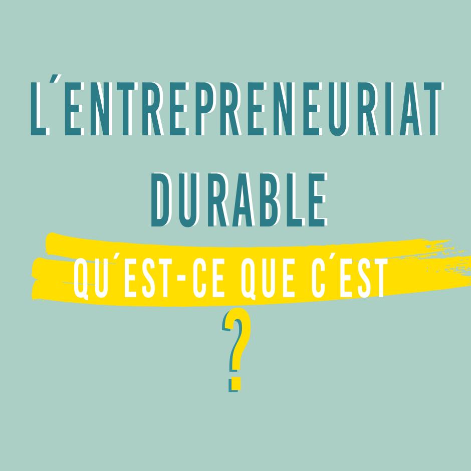 Entrepreneuriat durable